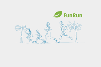 Plant palm trees with your steps, Join the AUB FunRun & Help protect our Environment