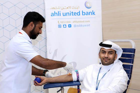 البنك الأهلي المتحد ينظم حملة للتبرع بالدم فى مقره الرئيسي