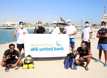 AUB continues its environmental initiatives to clean up the seabed of Kuwaiti islands